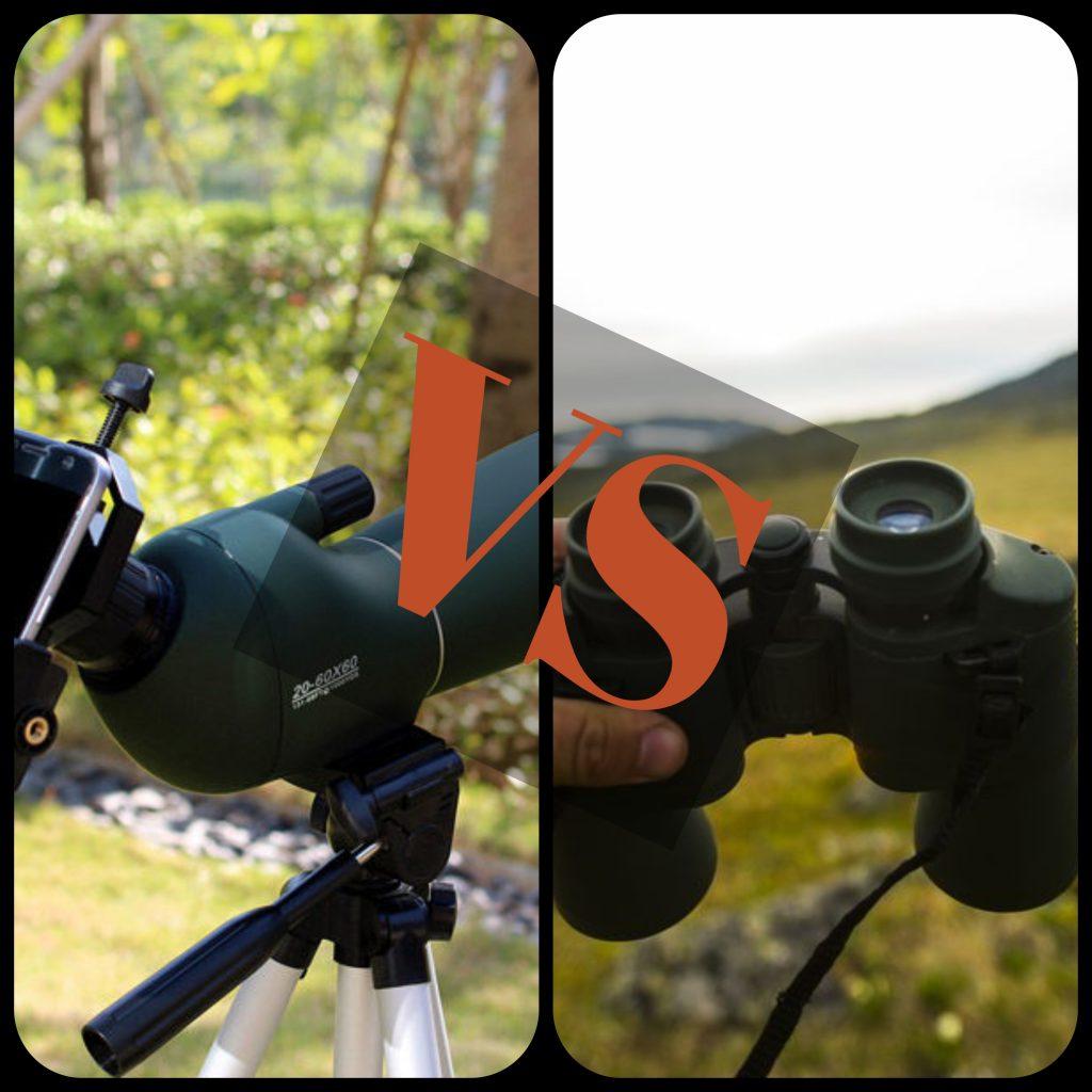 binoculars vs spotting scope for birding