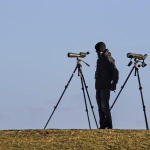 spotting scope used in target shooting